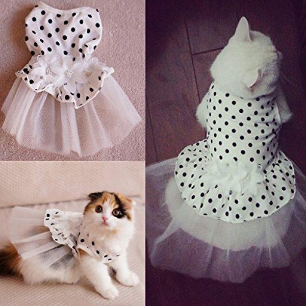 I Pet 174 Princess Floral Cat Party Bridal Wedding Dress