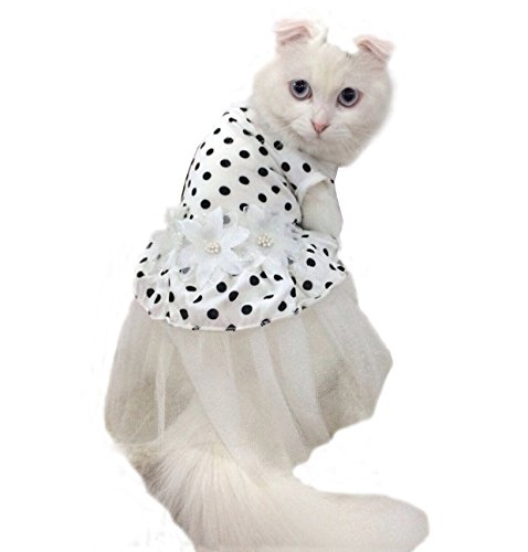 iPet-Princess-Floral-Cat-Party-Bridal-Wedding-Dress-  sc 1 st  Cute Cats in Hats & iu0027Pet® Princess Floral Cat Party Bridal Wedding Dress Small Dog ...