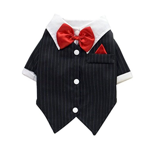 Dogloveit Adorable Formal Tuxedo Suit Dog Clothes for Cat Puppy ...