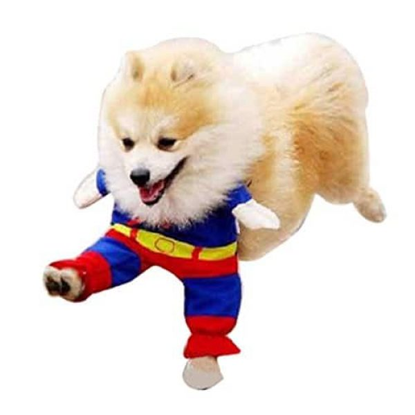 gaorui puppy lovely superman pet dog clothes halloween