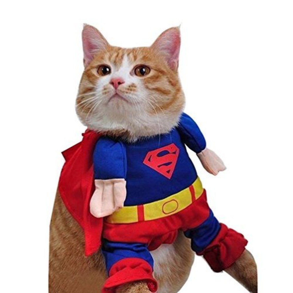 superman pet dog clothes halloween apparel costumes cute jumpsuit