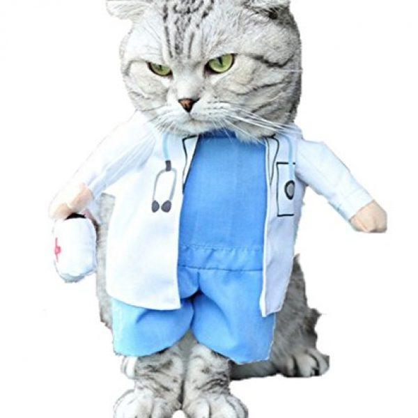 Mikayoo Pet Dog Cat Halloween Costume Doctor Nurse Costume Dog ...
