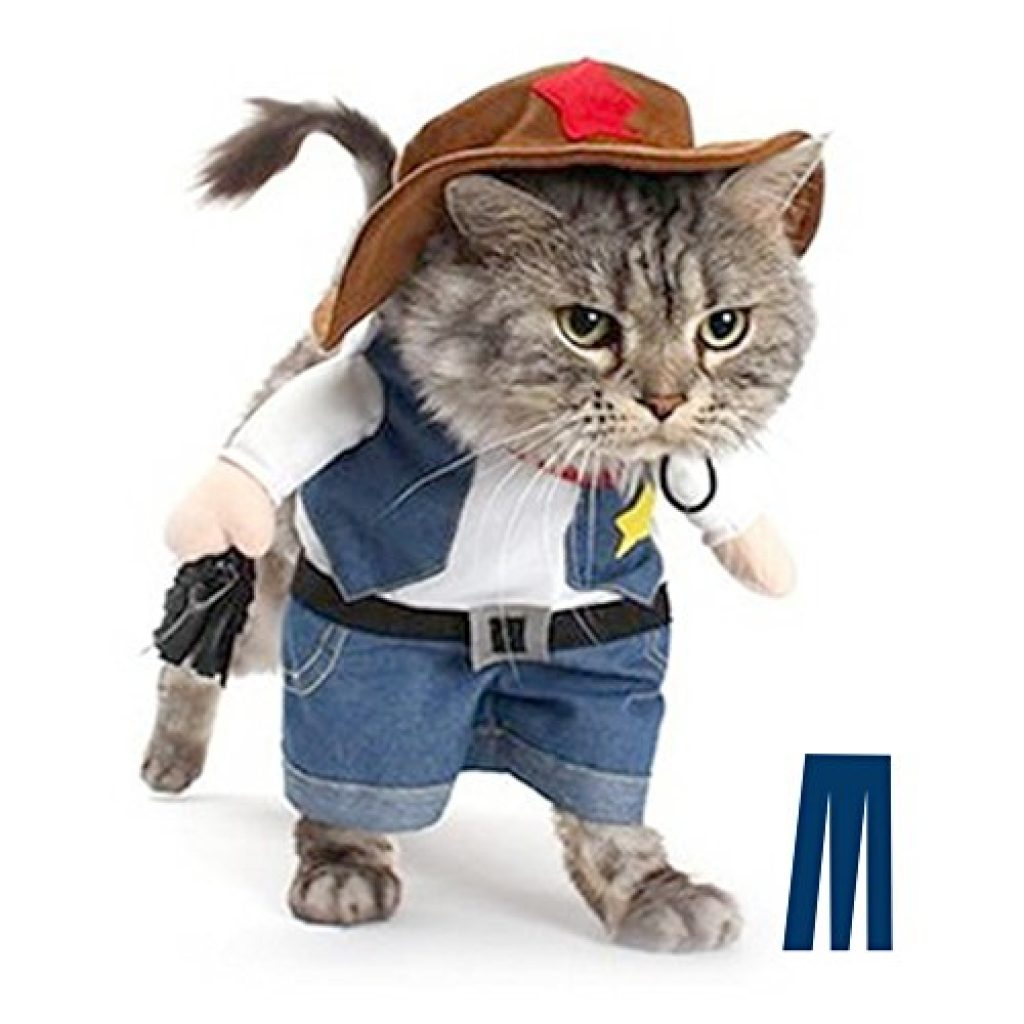 mikayoo pet dog cat halloween costumesthe cowboy party christmas special events costumewest