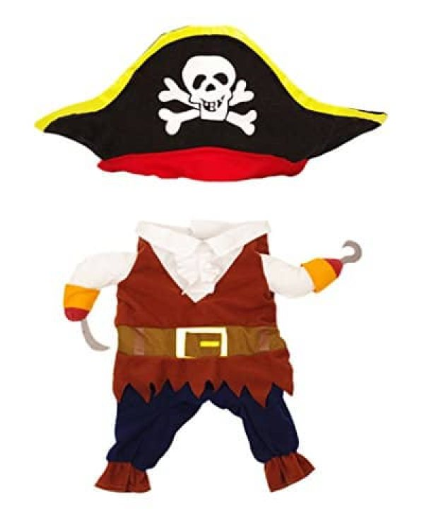 TOPSUNG-Cool-Caribbean-Pirate-Pet-Halloween-Costume-for-  sc 1 st  Cute Cats in Hats & TOPSUNG Cool Caribbean Pirate Pet Halloween Costume for Small to ...