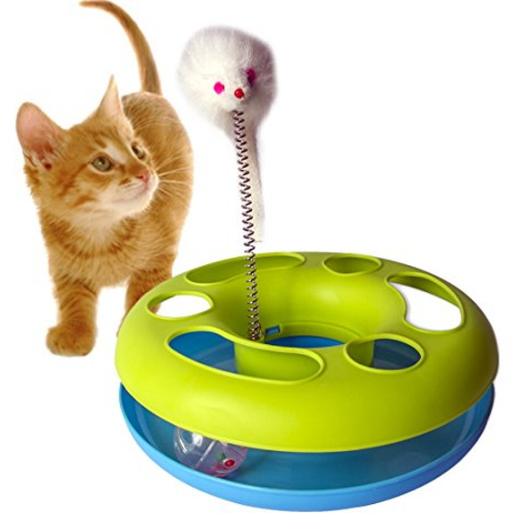 Gpet Cat Toy Hy Kitten Circle With Ball And Catch The Mouse Motion To Exercise